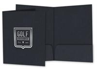 "Picture of 9"" x 12"" Foil Stamped Standard Two Pocket Folder"