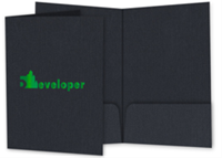 "Picture of 9"" x 14.5"" Foil Stamped Two Pocket Legal Folder"
