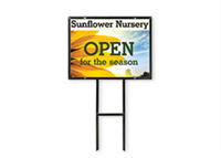 """Picture of Full Color Metal Yard Sign with Angle-Iron Frame - 18"""" x 24"""""""