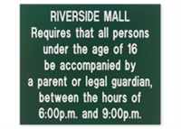 """Picture of Engraved Large Plastic Sign, 12"""" x 14"""""""