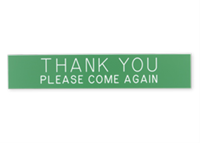 """Picture of Engraved Plastic Sign, 1 1/2"""" x 8"""""""