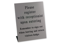 "Picture of Engraved Pedestal Sign, 12"" x 10"""