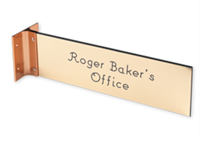 "Picture of Extended Wall Holder with Engraved Sign, 3"" x 10"""