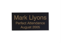 """Picture of Engraved Metal Plate, 1 1/2"""" x 3"""""""