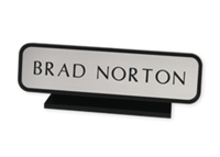 "Picture of Designer Desk Sign with Holder, 1 11/16"" x 7 11/16"""
