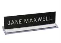 """Picture of Plexiglass Desk Holder with Engraved Sign, 2"""" x 8"""""""