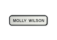 "Picture of Designer Wall Sign with Holder, 1 11/16"" x 7 11/16"""