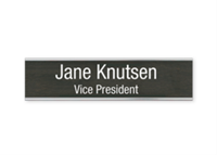 "Picture of Metal Flush Wall Mount Holder with Engraved Sign, 2"" x 8"""