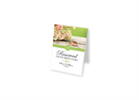 """Picture of Full Color Table Tent Sign, 6"""" x 4"""""""