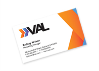 """Picture of 2"""" x 3.5"""" Full Color Flat Standard Business Card - Front only"""