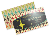 "Picture of 2"" x 3.5"" Full Color Flat Premium Business Card - Front & Back"
