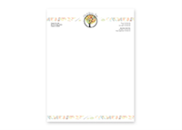 "Picture of 8.5"" x 11"" Full Color Raised Letterhead"