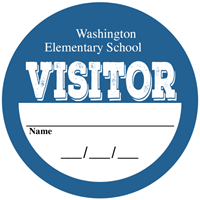Picture of Visitor Stickers - Classic