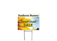 Picture of Full Color Yard Sign  w/ H Stake