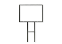 """Picture of Angle Iron Sign Frame Only - Fits 18"""" x 24"""" Sign"""