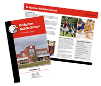 "Picture of 11"" x 8.5"" Bi-Fold School Brochure"