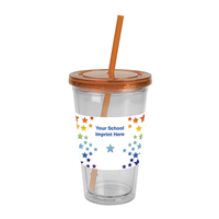Picture of HDI OLI TUMBLER W/STRAW 16 OZ