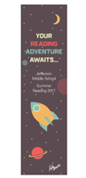 "Picture of 2.25"" x 8.25"" Summer Reading Bookmark"