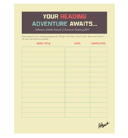 Picture of Student Summer Reading Tracking Sheet