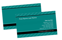 "Picture of 3.5"" x 2"" Principal Business Card -16 pt C2S with UV Gloss Coating Front Side"