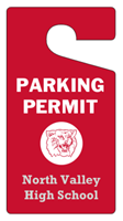 """Picture of 3"""" x 5.625"""" Polypropylene Parking Permit - Without Numbering"""