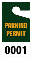 """Picture of 3"""" x 5.625"""" Polypropylene Parking Permit - With Numbering"""