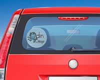"""Picture of 7"""" Circle Window Decal"""