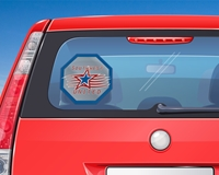 "Picture of 8"" Octagon Window Decal"