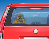 """Picture of 8"""" Triangle Window Decal"""