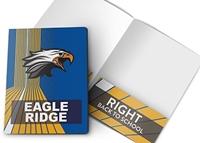 Picture of 9ʺ x 12ʺ Custom School Standard Two Pocket Folder