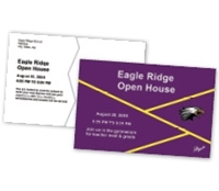 Picture of 8.5ʺ x 5.5ʺ Open House Custom Postcard Front & Back