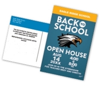 Picture of 8.5ʺ x 5.5ʺ Open House Back to School Postcard Front & Back