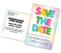 "Picture of 8.5"" x 5.5"" Open House Kindergarten Postcard Front & Back"