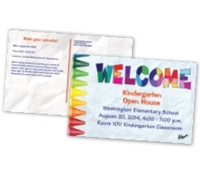 Picture of 8.5ʺ x 5.5ʺ Open House Crayons Postcard Front & Back