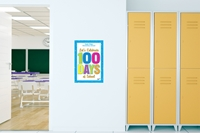 "Picture of Removable Wall Graphic 100 Days of School 12"" x 18"""
