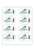 """Picture of 4"""" x 2.5"""" Custom Full Color Oval Tech Decal, Fabric, 8 per Sheet"""