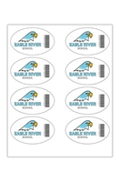 """Picture of 4"""" x 2.5"""" Custom Full Color Oval Tech Decal, Gloss, 8 per Sheet"""