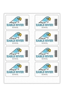 """Picture of 4"""" x 2.5"""" Custom Full Color Rectangle Tech Decal, Fabric, 8 per Sheet"""