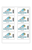 """Picture of 4"""" x 2.5"""" Custom Full Color Rectangle Tech Decal, Gloss, 8 per Sheet"""