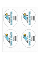"""Picture of 4"""" x 5"""" Custom Full Color Oval Tech Decal, Fabric, 4 per Sheet"""