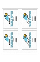 """Picture of 4"""" x 5"""" Custom Full Color Rectangle Tech Decal, Fabric, 4 per Sheet"""
