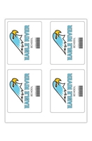 """Picture of 4"""" x 5"""" Custom Full Color Rectangle Tech Decal, Gloss, 4 per Sheet"""