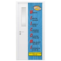 "Picture of Permanent Door Graphics 24"" x 96"" - Teacher 1"
