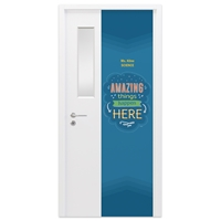 "Picture of Permanent Door Graphics 24"" x 96"" - Teacher 3"