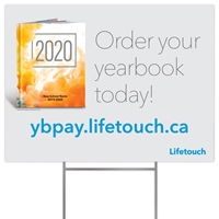 Picture of Full Color Yard Sign w/ H Stake Canada YBPay Yearbook