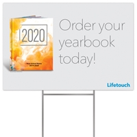Picture of Full Color Yard Sign w/ H Stake no YBPay Yearbook