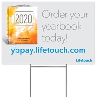 Picture of Full Color Yard Sign w/ H Stake US YBPay Yearbook