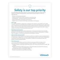 """Picture of  Safety is our top priority Poster 8x5"""" x 11"""" Preschool"""